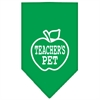 Mirage Pet Products Teachers Pet Screen Print Bandana Emerald Green Small