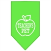 Mirage Pet Products Teachers Pet Screen Print Bandana Lime Green Large