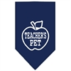 Mirage Pet Products Teachers Pet Screen Print Bandana Navy Blue large