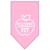 Mirage Pet Products Teachers Pet Screen Print Bandana Light Pink Large