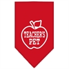 Mirage Pet Products Teachers Pet Screen Print Bandana Red Small