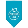 Mirage Pet Products Teachers Pet Screen Print Bandana Turquoise Large