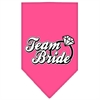Mirage Pet Products Team Bride Screen Print Bandana Bright Pink Large