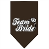 Mirage Pet Products Team Bride Screen Print Bandana Cocoa Small