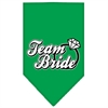Mirage Pet Products Team Bride Screen Print Bandana Emerald Green Small