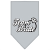 Mirage Pet Products Team Bride Screen Print Bandana Grey Large