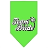 Mirage Pet Products Team Bride Screen Print Bandana Lime Green Large