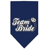 Mirage Pet Products Team Bride Screen Print Bandana Navy Blue Small