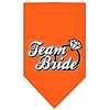 Mirage Pet Products Team Bride Screen Print Bandana Orange Large