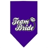 Mirage Pet Products Team Bride Screen Print Bandana Purple Large