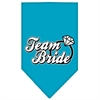 Mirage Pet Products Team Bride Screen Print Bandana Turquoise Large