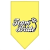 Mirage Pet Products Team Bride Screen Print Bandana Yellow Small
