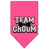Mirage Pet Products Team Groom Screen Print Bandana Bright Pink Large