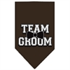 Mirage Pet Products Team Groom Screen Print Bandana Cocoa Small
