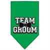Mirage Pet Products Team Groom Screen Print Bandana Emerald Green Large