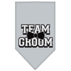 Mirage Pet Products Team Groom Screen Print Bandana Grey Large