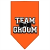 Mirage Pet Products Team Groom Screen Print Bandana Orange Large