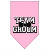Mirage Pet Products Team Groom Screen Print Bandana Light Pink Large