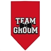 Mirage Pet Products Team Groom Screen Print Bandana Red Large