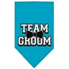 Mirage Pet Products Team Groom Screen Print Bandana Turquoise Small