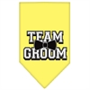 Mirage Pet Products Team Groom Screen Print Bandana Yellow Small