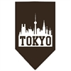 Mirage Pet Products Tokyo Skyline Screen Print Bandana Cocoa Small