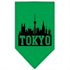 Mirage Pet Products Tokyo Skyline Screen Print Bandana Emerald Green Large
