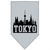 Mirage Pet Products Tokyo Skyline Screen Print Bandana Grey Large