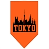 Mirage Pet Products Tokyo Skyline Screen Print Bandana Orange Small