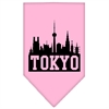 Mirage Pet Products Tokyo Skyline Screen Print Bandana Light Pink Large