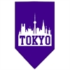 Mirage Pet Products Tokyo Skyline Screen Print Bandana Purple Small