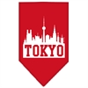 Mirage Pet Products Tokyo Skyline Screen Print Bandana Red Small