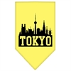 Mirage Pet Products Tokyo Skyline Screen Print Bandana Yellow Large