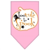 Mirage Pet Products Too Cute to Spook Screen Print Bandana Light Pink Large