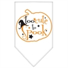 Mirage Pet Products Too Cute to Spook Screen Print Bandana White Small