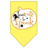 Mirage Pet Products Too Cute to Spook Screen Print Bandana Yellow Small