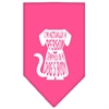 Mirage Pet Products Trapped Screen Print Bandana Bright Pink Large