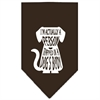 Mirage Pet Products Trapped Screen Print Bandana Cocoa Small