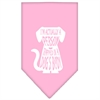 Mirage Pet Products Trapped Screen Print Bandana Light Pink Large