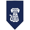 Mirage Pet Products Trapped Screen Print Bandana Navy Blue Small