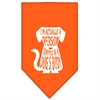 Mirage Pet Products Trapped Screen Print Bandana Orange Small