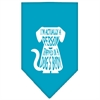 Mirage Pet Products Trapped Screen Print Bandana Turquoise Large