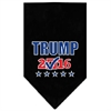 Mirage Pet Products Trump Checkbox Election Screenprint Bandana Black Large