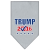 Mirage Pet Products Trump Checkbox Election Screenprint Bandana Grey Large