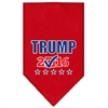 Mirage Pet Products Trump Checkbox Election Screenprint Bandana Red Large