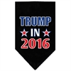 Mirage Pet Products Trump in 2016 Election Screenprint Bandanas Black Large