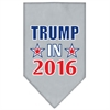 Mirage Pet Products Trump in 2016 Election Screenprint Bandanas Grey Small