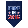 Mirage Pet Products Trump in 2016 Election Screenprint Bandanas Navy Blue Small