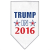 Mirage Pet Products Trump in 2016 Election Screenprint Bandanas White Small