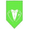 Mirage Pet Products Tuxedo Screen Print Bandana Lime Green Small